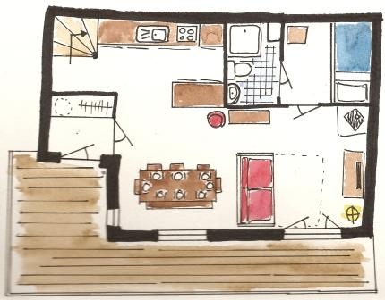 Chalet Floor Plan - downstar