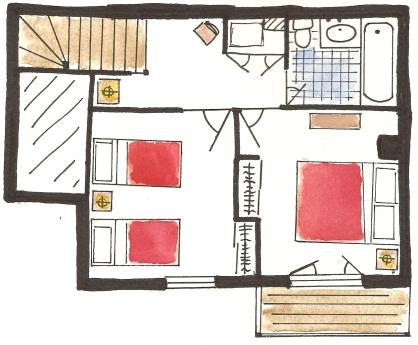Chalet Floor Plan - upstairs